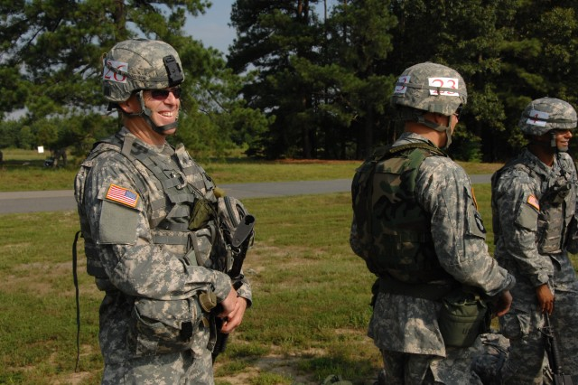 Sgt. Billy Richardson from the Army Materiel Command participated in the Noncommissioned officer and Soldier of the Year competition at Fort A.P.Hill July 21.