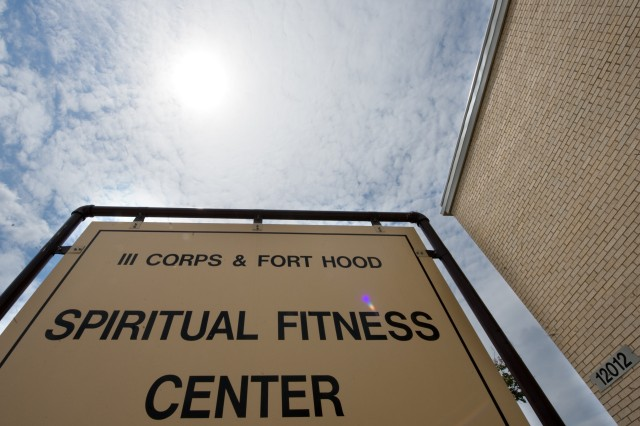 The Spiritual Fitness Center on the Resiliency Campus at Fort Hood, Texas, on July 28, 2009.  Chief of Staff of the Army Gen. George W. Casey Jr., visited the campus to observe techniques being applied to help Soldiers build resilience.