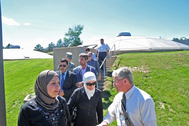 Jordanians visit waste water treatment plant at U. S. Air Force Academy
