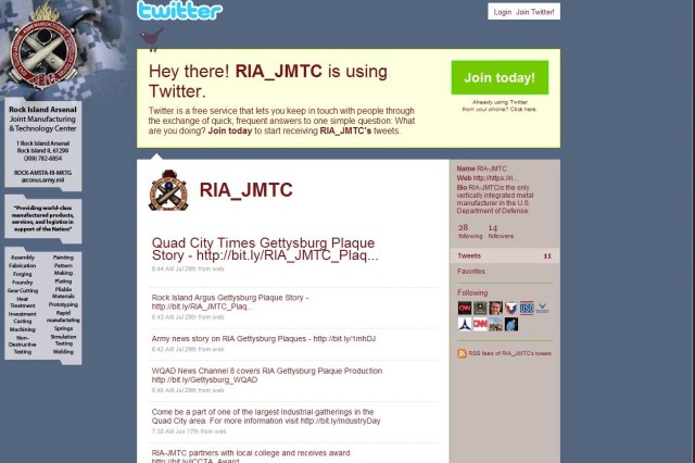 Twitter page