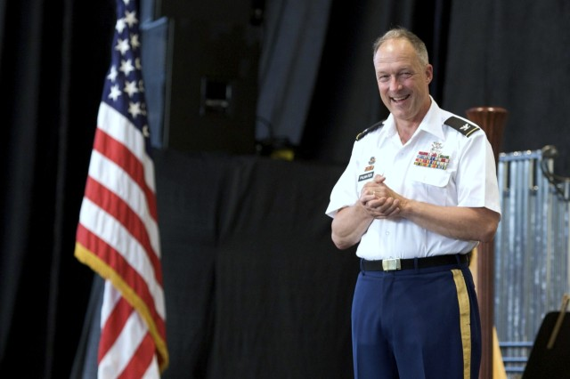 Col. Thomas H. Palmatier, commander of The United States Army Field Band, was pleased to perform at The Woodlands Pavilion. The pavilion, a popular site just outside of Houston, Texas, typically hosts big name acts from all over the world. Thousands of area residents came out to to to see The Musical Ambassadors of the Army perform on July 28.