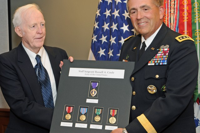 Vet awarded Purple Heart after 64 years