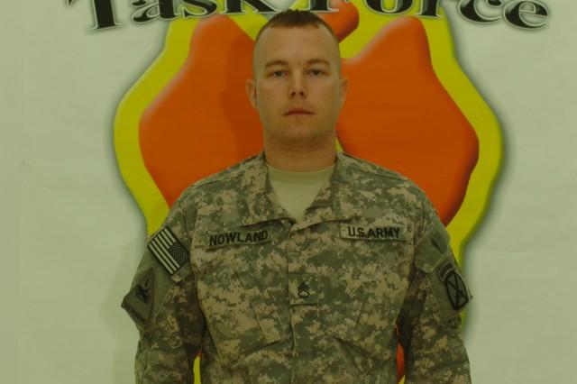 Staff Sgt. Seth Nowland, E. Co., 1-10 Attack
