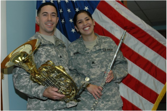 Thanks to the Army and their mutual love of music, Sergeants Paul and Demetra Mormino met and married.