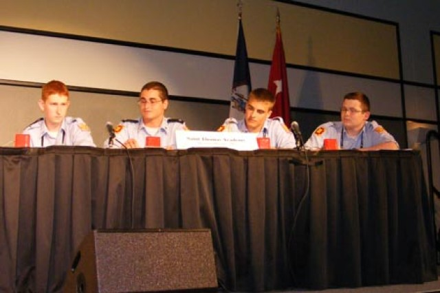 Army Junior ROTC Cadets Compete in Academic Bowl