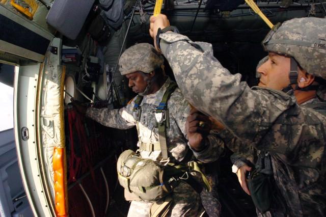 Commander's farewell jump