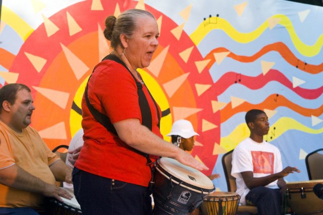 Sacramento District planner shares hope through drumming