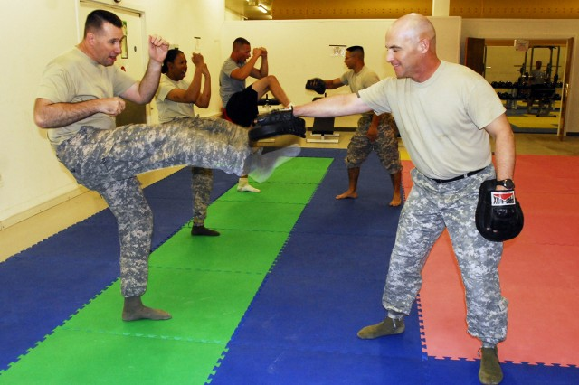 Kick boxing self-defense