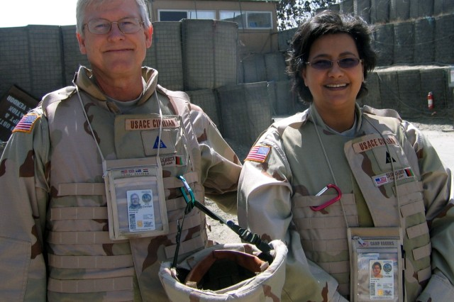 Ramon and Eman Sundquist met on deployment in Kuwait, and overseas work for USACE has been a normal part of their marriage.
