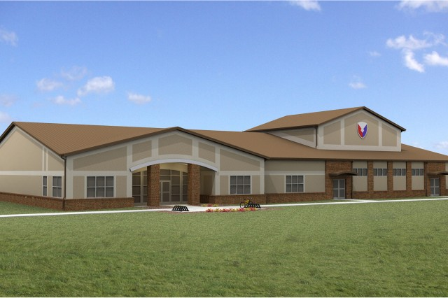 Artist rendering of the new AMC Band facility at Redstone Arsenal.