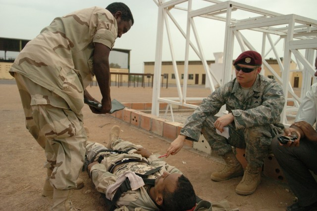 Djiboutian army learns combat life saving skills from U.S. military