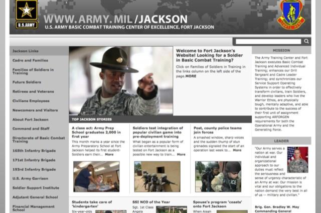 Fort Jackson CORE page screenshot