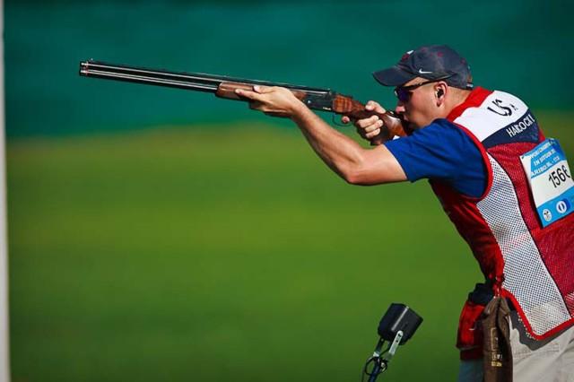 Specialist takes gold at world shotgun championship
