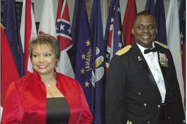 Mrs. Charlene Austin and Lt. Gen. Lloyd J. Austin III