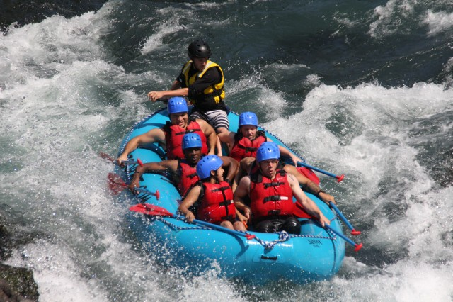 1st SFG(A) Unit Ministry Team Organizes White Water Rafting Trip