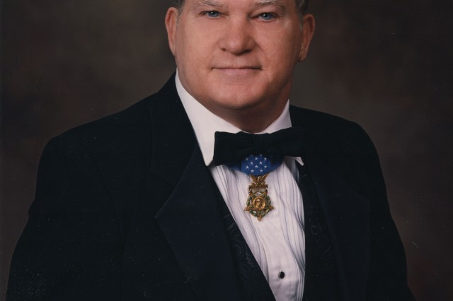 This 2001 photo was taken when Baker was vice president of the Congressional Medal of Honor Society.