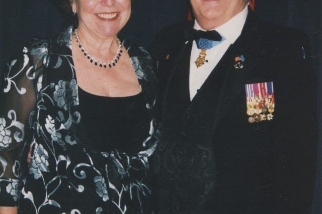 Baker and wife Donnell at this year's Veteran's Ball, one of the many inaugural balls held in Washington. Baker was among several Medal of Honor recipients honored at the ball.