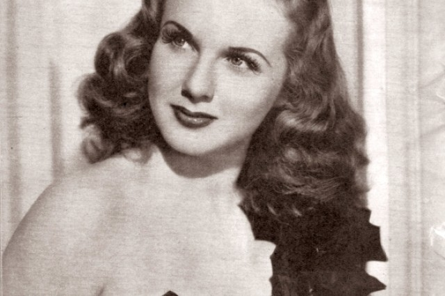 Deanna Durbin was one of the World War II starlets who became a pin-up girl for Yank Magazine.