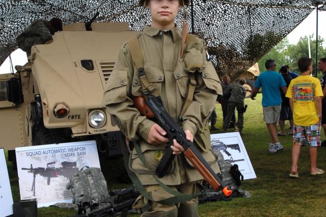 Young boy, old uniform