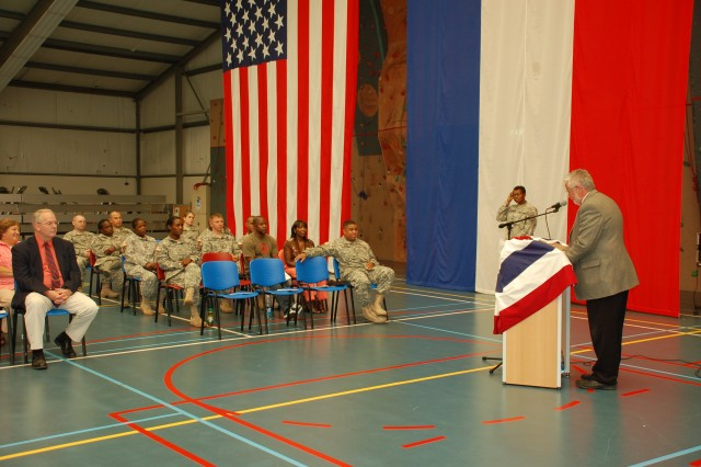 Military and civilian personnel paused to observe Womens Equality Day, Aug. 26 at USAG Schinnen.