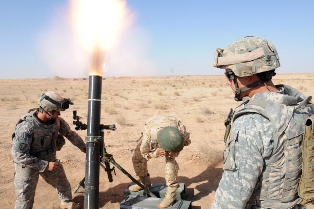 Military Mortar Sizes : Us mortar men train iraqi soldiers article the united