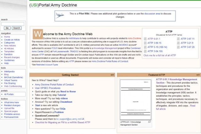 Since its inception more than a year ago, milWiki has surpassed more than 37,000 users, 10,000 pages, and 4,000 individual articles and remains under pilot to become a centralized point for updating Army field manual doctrine. Now, it is the recipient of the top Army award for knowledge management.