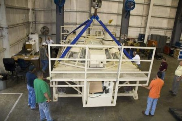 Depot begins turret trainer disassembly