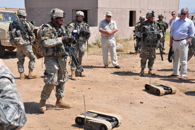 Soldiers testing unmanned vehicles, sensors at Bliss