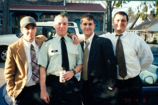 A personal photo of Sgt. 1st Class Jared C. Monti, here posing with his cousins.