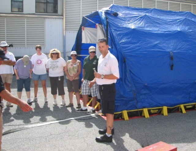 Kwajalein hospital, dental and fire department staffs train to handle hazardous material decontamination