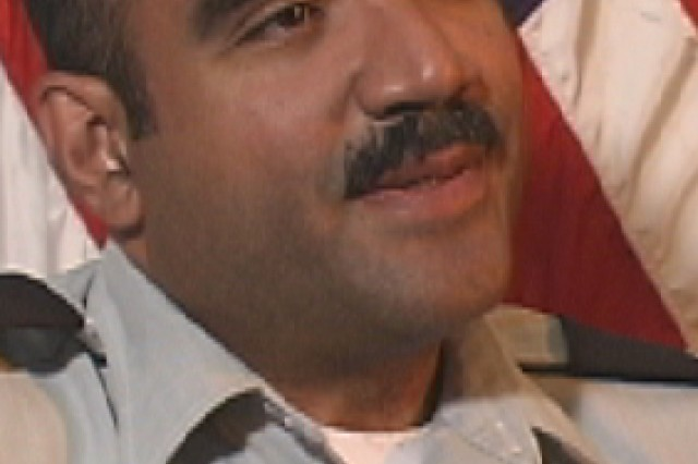 9/11 Pentagon survivor, Lt. Col. Victor Correa. Photo taken in 2002 at the Pentagon.