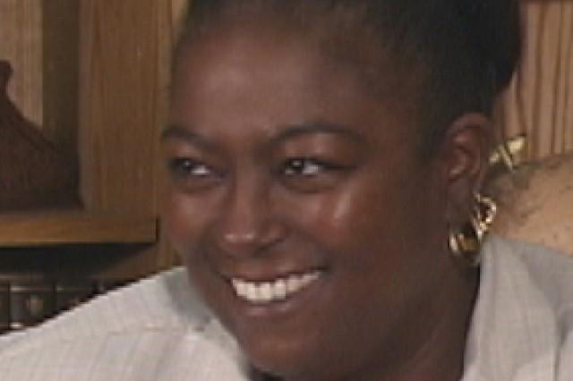 9/11 Pentagon survivor, Tracy Webb. Photo taken in 2002 at the Pentagon.