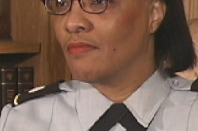 9/11 Pentagon survivor, Lt. Col. Regina Grant. Photo taken in 2002 at the Pentagon.