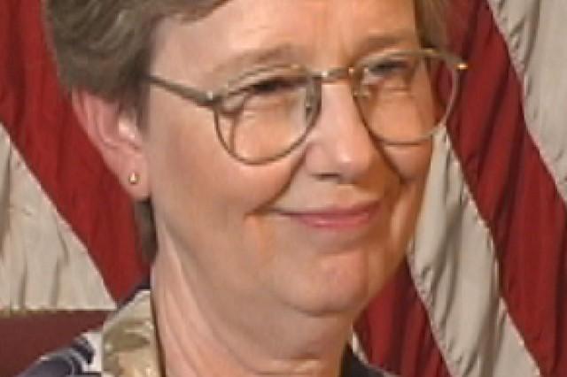 9/11 Pentagon survivor, Martha Carden. Photo taken in 2002 at the Pentagon.