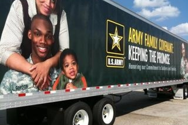 Murals of Soldiers and their families are being painted on 18-wheelers belonging to the Army and Air Force Exchange Service. The trucks with Army Family Covenant messages will begin hitting the streets later this fall.