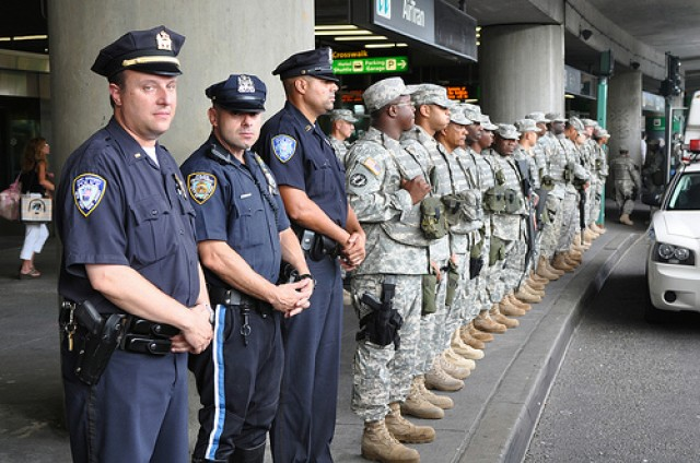 JTF Empire State welcome wounded at airport