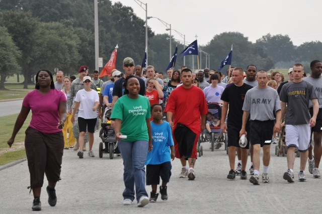 Operation Homefront hosted the third annual Freedom Walk on Fort Benning.  The event brought together Soldiers, Army Families and community members as they walked around Steward-Watson Field to renew their commitment to the cause freedom on this solemn anniversary.