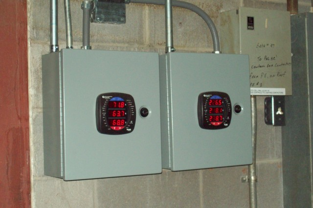 Shark 200 Advanced Electric Meters are used to capture the electric usage. In addition to electric usage data the meters also collect natural gas consumption for reporting to the Directorate of Public Works energy manager.