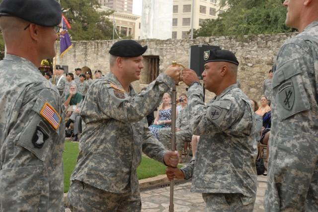 The Alamo Hosts 321st Civil Affairs Brigade Ceremony
