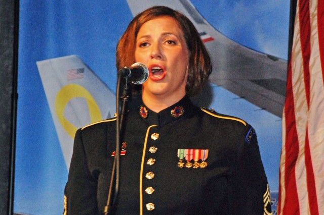 Soldiers' Chorus vocalist pays tribute through song