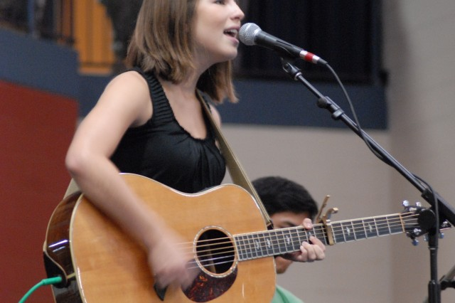 Bethany Dillon performs at the summer concert series Sunday at the Solomon Center. The series brought Christian musicians to Fort Jackson.