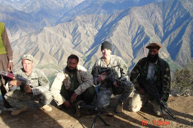 A personal photo of Sgt. 1st Class Jared C. Monti in Afghanistan, 2006.