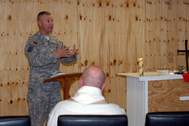 Czech Army Chaplain Honors Task Force Spartan Chaplain With Coveted Award