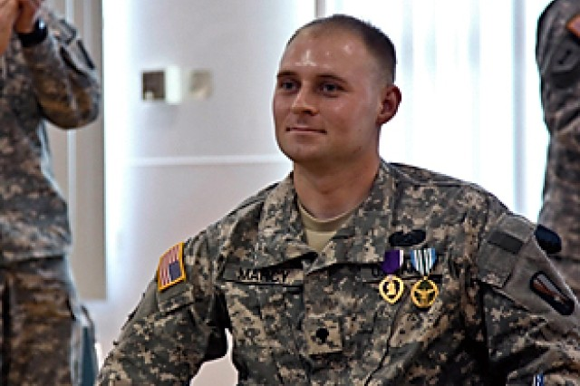 55th Combat Camera Soldier receives Purple Heart