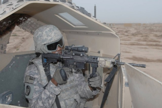 The Overhead Cover is an integrated armor/ballistic glass system mounted onto the Objective Gunner Protection Kit of tactical and armored vehicles.  It provides enhanced 360 degree ballistic protection while retaining visibility for situational awareness by gunners.