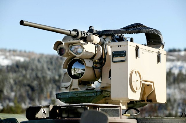 Capable of being mounted on a variety of vehicles, the XM153 Common Remotely Operated Weapon Station provides the capability to remotely aim and fire a suite of crew-served weapons from either a stationary platform or while on the move, using the system power of the host vehicle.