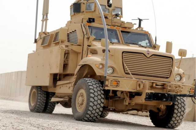The Mine Resistant Ambush Protected Expedient Armor Program Add-on-Armor Kit for MRAP vehicles was developed to safeguard Soldiers against the extremely lethal threats of improvised explosive devices and explosively formed penetrators.