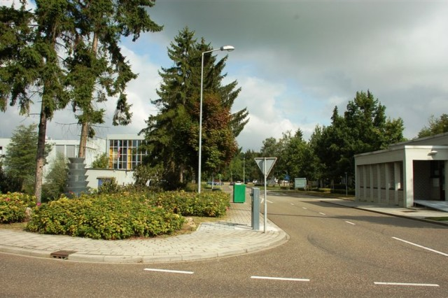 The new gate: With the more sophisticated array of force protection measures left out of this photo, this is the entrance to the headquarters of USAG Schinnen today.