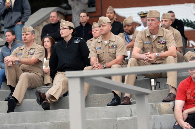 Chief Petty Officers from the Center for Information Dominance Detachment Monterey.
