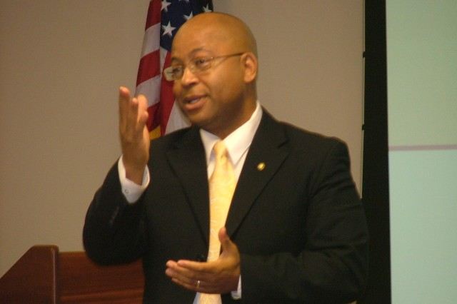 Norvel L. Dillard, acting deputy assistant secretary of the Army, EEO and Civil Rights, and keynote speaker at the annual AMC EO and EEO roundtable in Huntsville, Ala. Sept. 15-17. U.S. Army Photo.